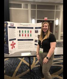 Dakota Staley presents her poster at the Northeast Regional Honors Council Conference