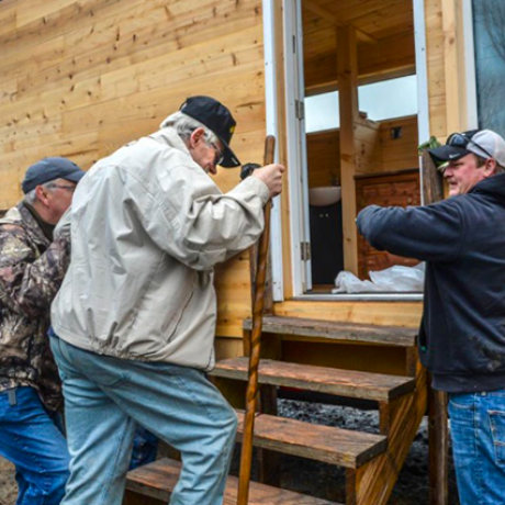 "Homeless Vet Gets ""Tiny House"" Built at RMU"
